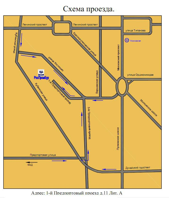 Схема проезда по санкт-петербургу больше