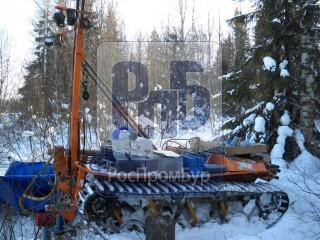 Бурильная установка Вектор Т-2 в бурении зимой