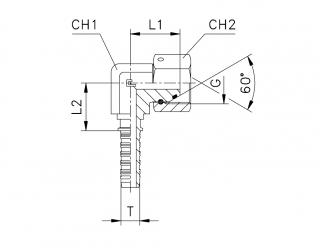 Фитинг BSP с накидной гайкой, компактный