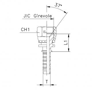 Фитинг JIC с обжатой гайкой