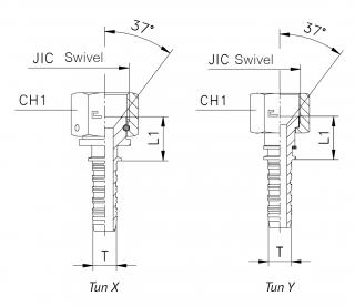 Фитинг JIC с накидной гайкой