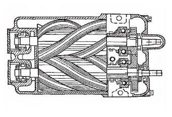 Пример схемы безмасляного винтового компрессора