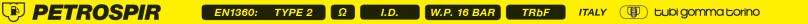Напорно-всасывающий рукав для топлива и минеральных масел Tubigomma PETROSPIR SD/16 EN 1360 Type 2